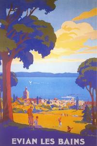 Travel Poster for Evian Les Bains