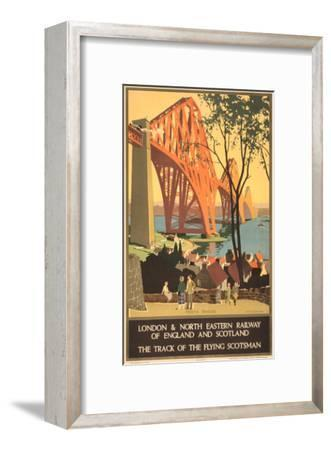 Travel Poster for Flying Scotsman, Forth Bridge--Framed Art Print