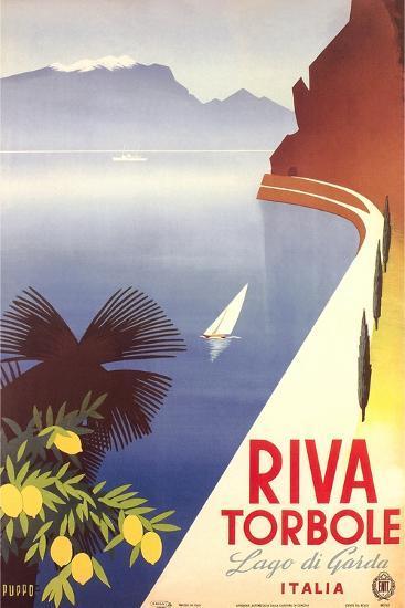 Travel Poster for Garda Lake--Art Print