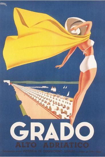 Travel Poster for Grado--Art Print