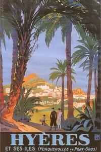 Travel Poster for Hyeres