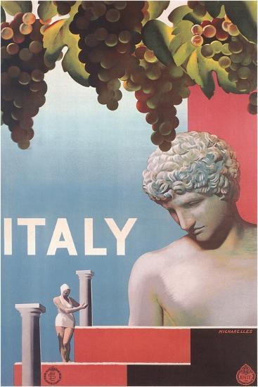 Travel Poster for Italy--Art Print
