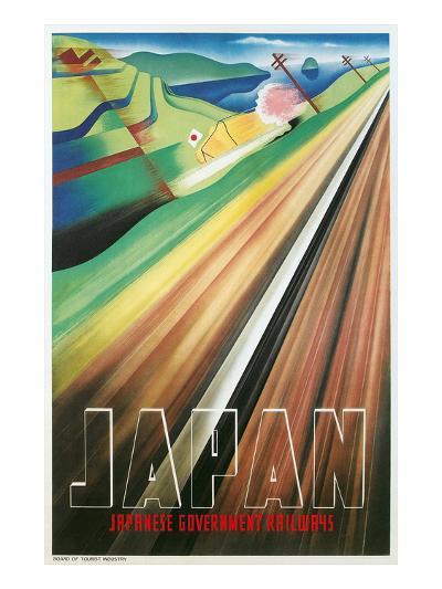 Travel Poster for Japanese Railways--Art Print