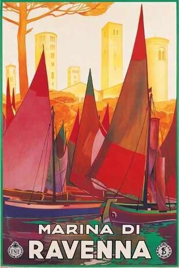 Travel Poster for Marina di Ravenna, Italy--Art Print