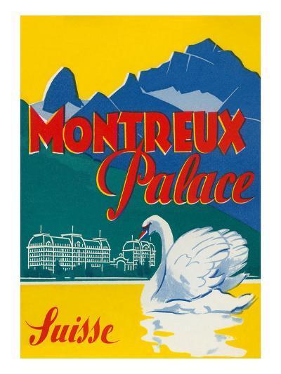 Travel Poster for Montreux, Switzerland--Art Print