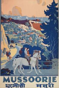 Travel Poster for Mussoorie, India