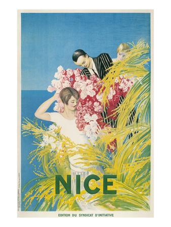 Travel Poster for Nice, France--Art Print
