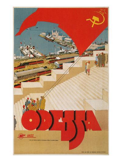 Travel Poster for Odessa, USSR--Art Print