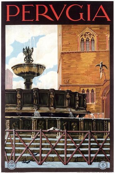 Travel Poster for Perugia--Art Print