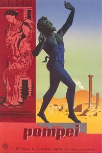 Travel Poster for Pompei