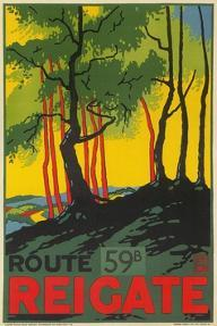 Travel Poster for Reigate, Surrey, England