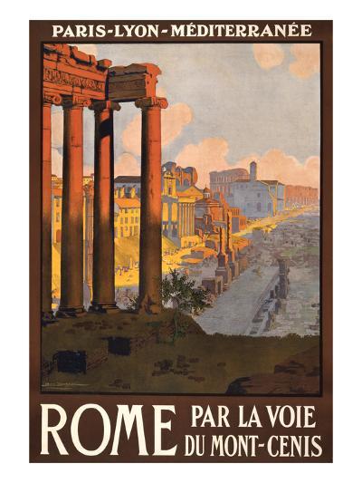 Travel Poster for Rome, Italy--Art Print