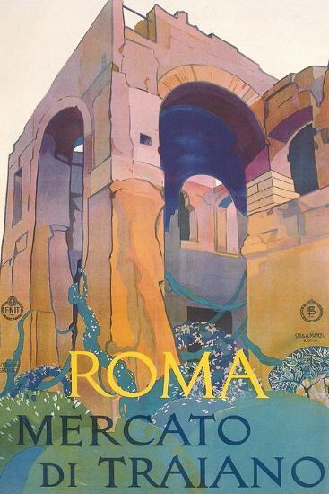 Travel Poster for Rome--Art Print