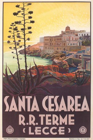 Travel Poster for Santa Cesarea--Art Print