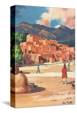 Travel Poster for Taos Pueblo