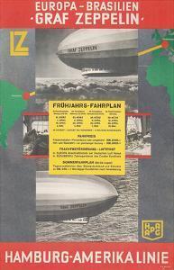 Travel Poster for Transatlantic Zeppelin Crossing