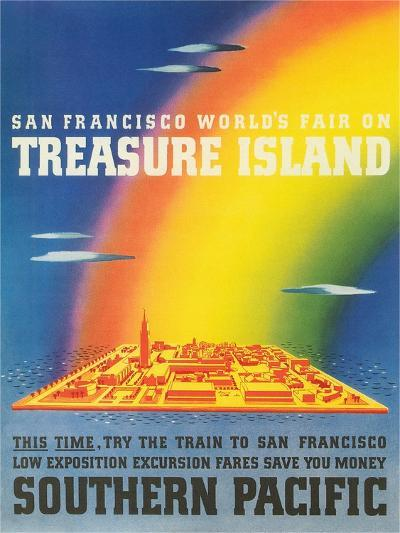 Travel Poster for Treasure Island Exposition--Art Print