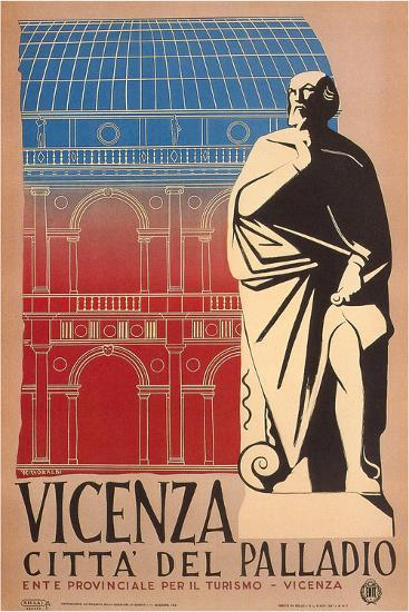 Travel Poster for Vicenza--Art Print