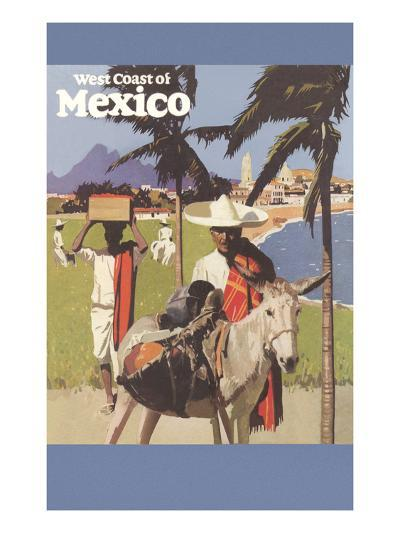 Travel Poster for West Coast of Mexico--Art Print