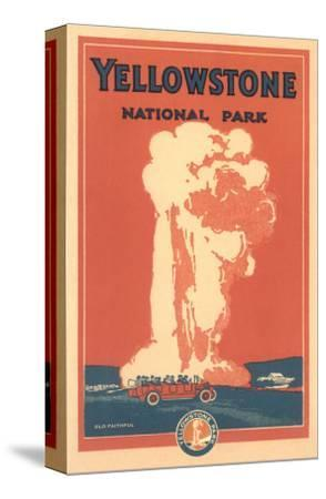 Travel Poster for Yellowstone Park, Old Faithful