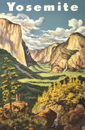 Travel Poster for Yosemite National Park