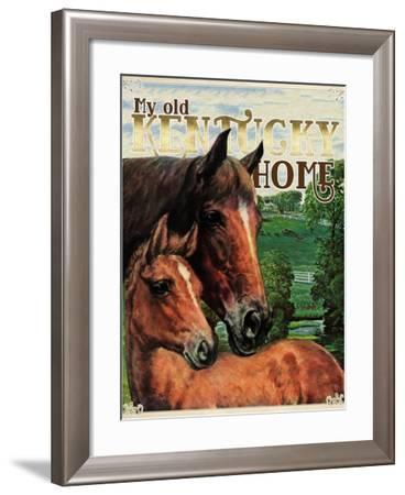 Travel Poster - Kentucky-The Saturday Evening Post-Framed Giclee Print