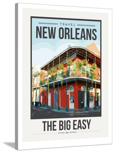 Travel Poster New Orleans-Brooke Witt-Stretched Canvas Print