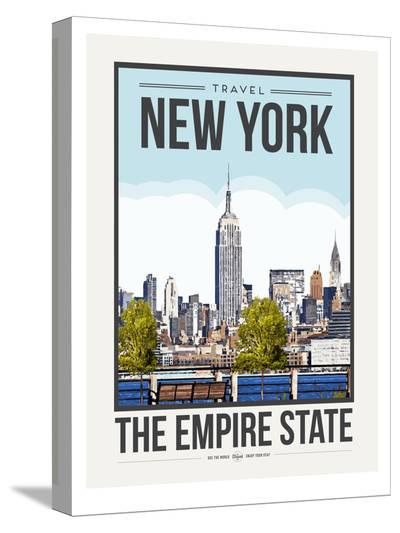 Travel Poster New York City-Brooke Witt-Stretched Canvas Print