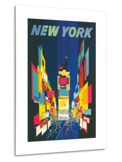 Travel Poster, New York City--Metal Print