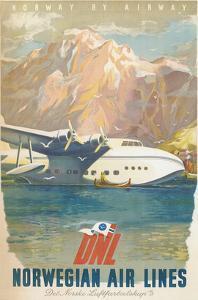 Travel Poster, Norwegian Air Lines