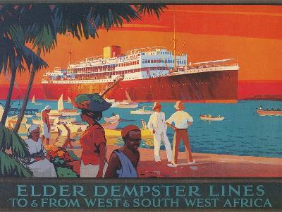 Travel Poster, West and Southwest Africa--Art Print
