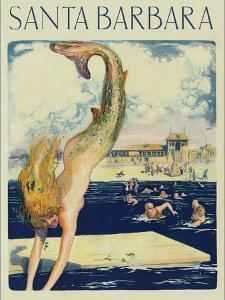 Travel Poster with Mermaid