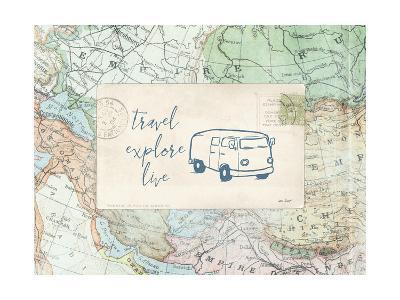 Travel Posts II-Katie Pertiet-Art Print
