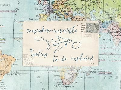 Travel Posts IV-Katie Pertiet-Art Print