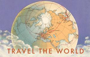 Travel the World, Globe with Routes