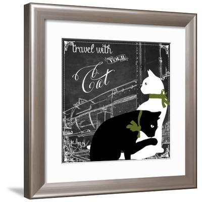 Travel with Your Cat-Color Bakery-Framed Giclee Print