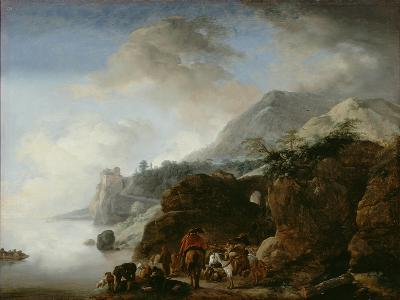 Travelers Awaiting a Ferry, 1649-Philips Wouwermans-Giclee Print