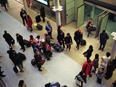 Travelers from Paris Arrive in London on the Eurostar High-Speed Train-Steve Raymer-Photographic Print