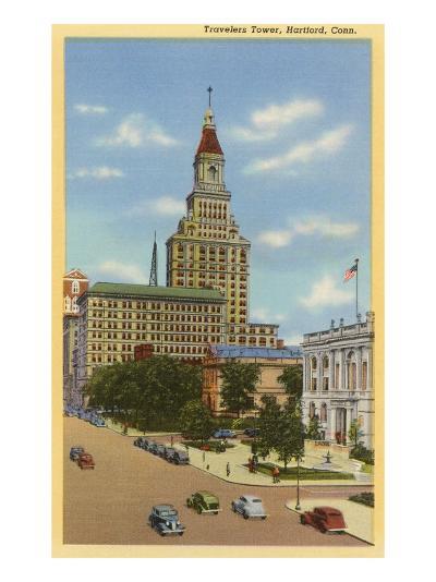 Travelers Tower, Hartford, Connecticut--Art Print