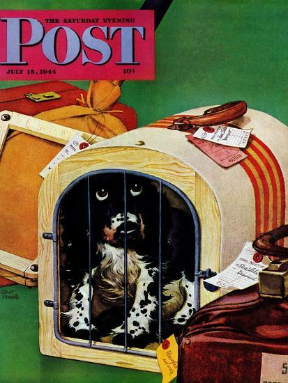 """""""Traveling Butch,"""" Saturday Evening Post Cover, July 15, 1944-Albert Staehle-Giclee Print"""