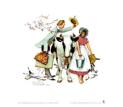 Traveling Salesman-Norman Rockwell-Art Print