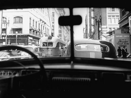 Traveling Through Rush Hour Traffic in Downtown Los Angeles-Loomis Dean-Photographic Print