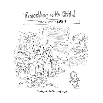 Traveling with Child - Day 1 - Cartoon-Tom Toro-Premium Giclee Print