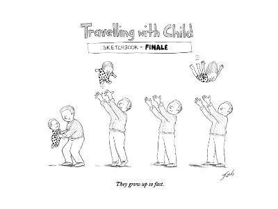 Traveling with child - Finale - Cartoon-Tom Toro-Premium Giclee Print