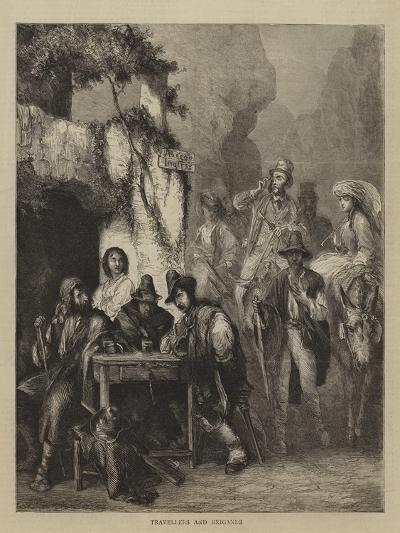 Travellers and Brigands--Giclee Print