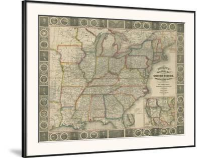 Travellers Guide to the US-J^M^ Atwood-Framed Art Print