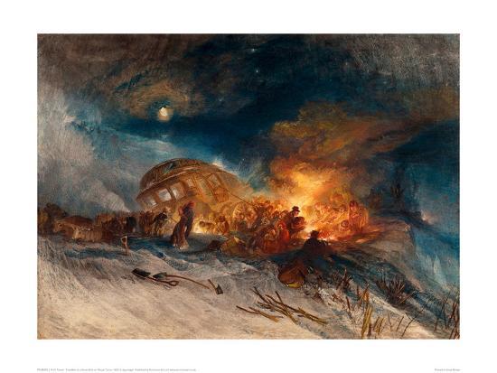 Travellers in a Snow Drift on Mount Tarrar, 1829-J^ M^ W^ Turner-Giclee Print
