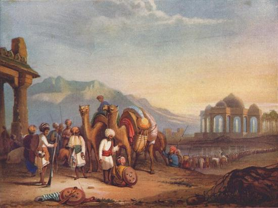 'Travellers with Escort in the Ancient Province of Kattywar', 1908-Unknown-Giclee Print