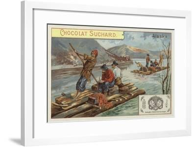 Travelling by Raft, Alaska--Framed Giclee Print
