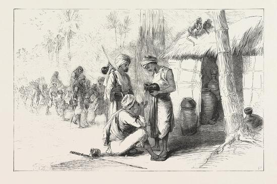 Travelling in India: Wayside Shed for Supplying Travellers with Water. 1876--Giclee Print